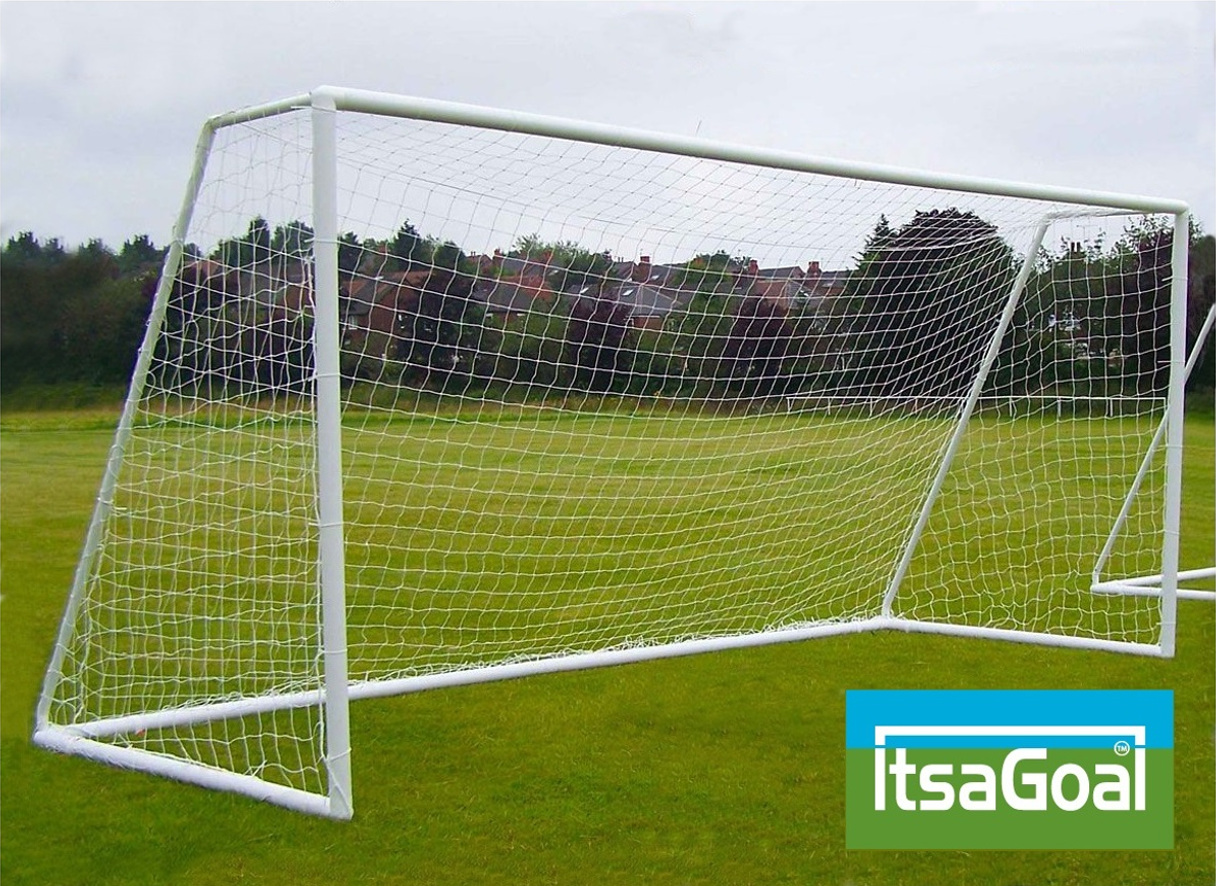 9v9 Junior garden football goals 16x7 - Garden football goalposts 16x7' like Samba Goals